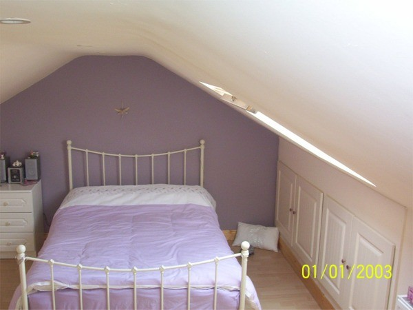Attic bedroom at Hillcrest, Lucan, Co. Dublin - work carried out by Expert Attics, Lucan, Dublin, Ireland.