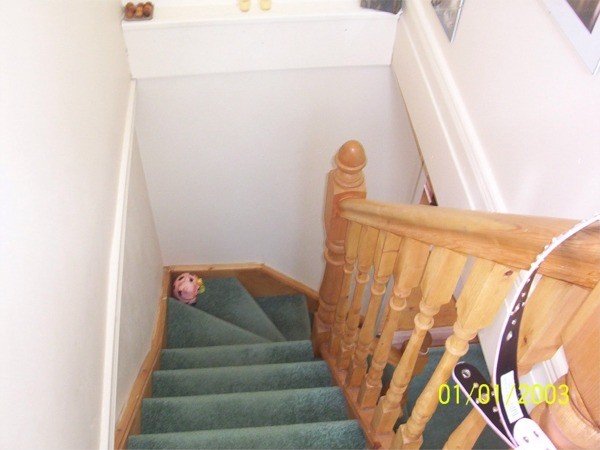 Stairs leading to attic conversion at Hillcrest, Lucan, Co. Dublin - work carried out by Expert Attics, Lucan, Dublin, Ireland.