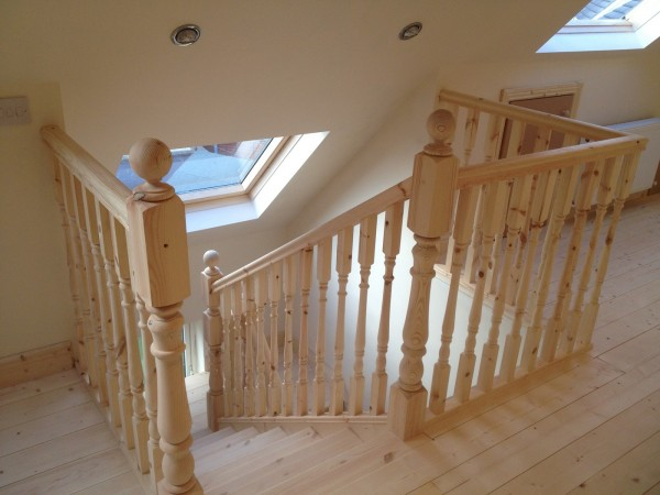 Velux window over staircase, Dublin by Expert Attics, Ireland